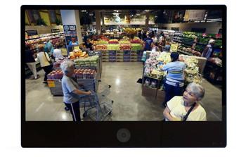 "ViewZ USA VZ-PVM-Z4B3N 32"" HD Public View LED Monitor - Built-in 2MP Camera"