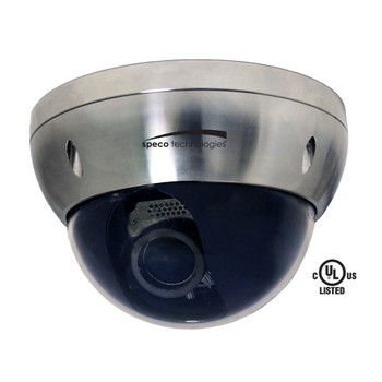 Speco HT724ST8 2MP Outdoor Dome HD-TVI Security Camera - Stainless Steel Cover, IP68