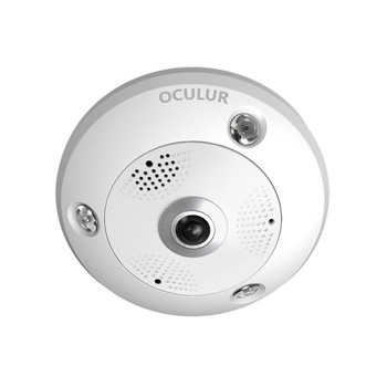 Oculur X12FE 12MP 4K IR Panoramic Outdoor Fish Eye IP Security Camera - Built-in Mic & Speaker