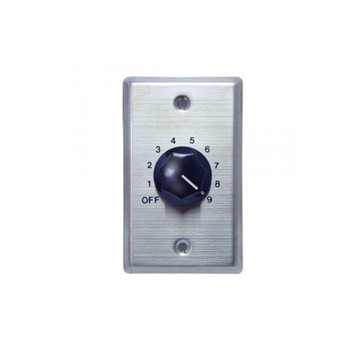 Speco WAT10 10W 70/25 Volt Wall Plate Volume Control, Silver and Black