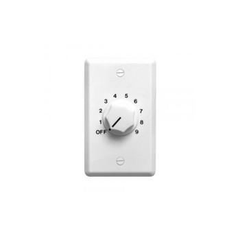 Speco WAT50W 50W 70/25 Volt Wall Plate Volume Control, White