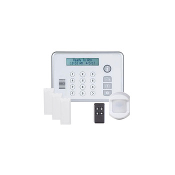 2Gig 2GIG-RELY-KIT2 1x Panel, 3x Door/Window Sensor 1x Motion Detector 1x Keychain Remote - Powered by Securenet