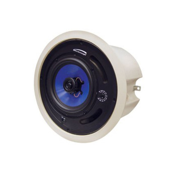 """Speco SP6MAT MA-Series 6.5"""" 70/25V Commercial ABS Plastic Back Can Speakers, Off-White Housing"""