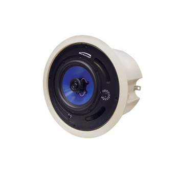 """Speco SP5MAT MA-Series 5.25"""" 70/25V Commercial ABS Back Can Speakers, Off-White Housing"""