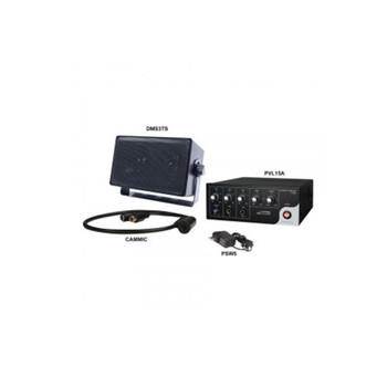 """Speco 2WAK2 2-Way Audio Kit with 15W RMS Amplifier Line-Level Microphone and 4"""" Wall-Mount 70/25V Speaker"""