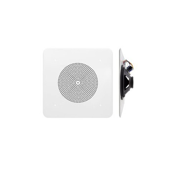 "Speco G86TG1X1C 86 Series - 8"" 70/25V 1'x1' Grille In-Ceiling Contractor Speaker with Volume Control Knob"
