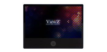 """ViewZ VZ-PVM-I2B3N 23"""" Black Panel LED IP Public View Monitor with Built-in 2MP Camera"""