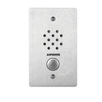 Aiphone LE-SS-1G 1-Gang Door Station, Vandal and Weather Resistant Stainless Steel