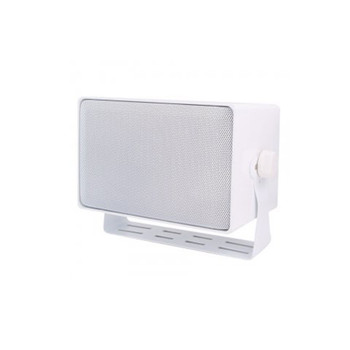 """Speco DMS3TSW 4"""" 3-Way Indoor/Outdoor All-Purpose Speaker with 70/25V Transformer - White Housing (sold individually)"""