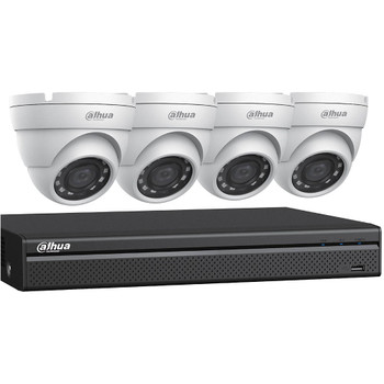 Dahua C544E42 HD-CVI Security System, 4 Camera, Outdoor, 4MP, 2TB Storage, Night Vision