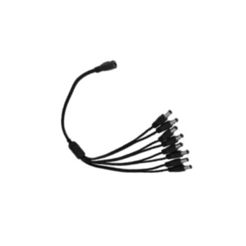 Oculur PLS-8DC 8 Way Pigtail DC male Power Lead Splitter