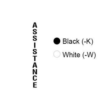 Aiphone TW-ASK Tower Assistance Lettering, Black