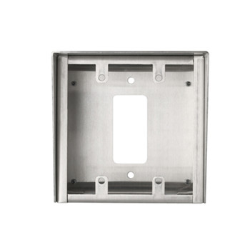 Aiphone SBX-2G/A Surface Mount Box for 2-Gang Stainless Steel Stations