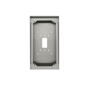 Aiphone SBX-IDVFRA Stainless Steel Surface Mount Box for IS-DVF-(2)RA, IX-DF-2RA, IX-SS-(2)RA