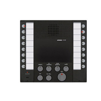 Aiphone AX-8M Audio Master, Black, with buttons for up to 8 Master stations and 8 Door or sub stations