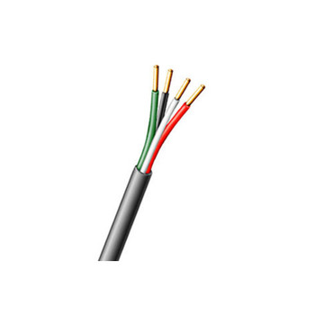 Aiphone 871804P50C 4 conductor, 18AWG, Solid, FEP Insulated, Plenum Wire, 1000'
