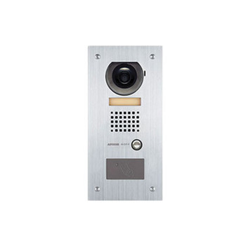 Aiphone AX-DVF-P Video Door Station with HID ProxPoint Plus Reader, Flush Mount Stainless Steel