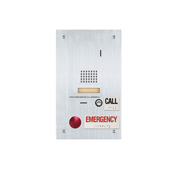 Aiphone IS-SS-2RA-R IS-RCU-compatible Door Station with Emergency and Standard Call Buttons, Flush Mount Stainless Steel