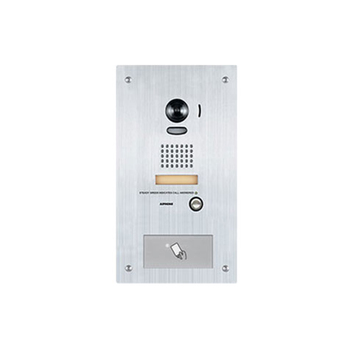 Aiphone IS-DVF-HID Stainless Steel Video Door Station with HID ProxPoint Plus Reader, Flush Mount