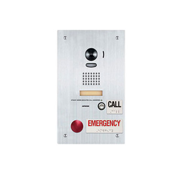 Aiphone IS-DVF-2RA Video Door Station with Emergency and Standard Call Buttons, Flush Mount Stainless Steel