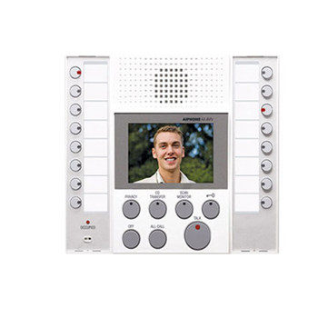 Aiphone AX-8MV-W Audio/Video Master Station, White, with buttons for up to 8 Master Stations and 8 Doors / Sub Station