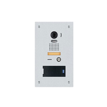 Aiphone JP-DVF-RP10 Stainless Steel Video Door Station with HID multiCLASS SE Proximity Card Reader, Flush Mount