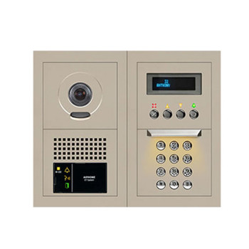 Aiphone GTV-DES202B 10-Key Video Entrance Panel Kit, 2x2 Size
