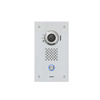 Aiphone IX-DVF SIP Compatible Flush Mounted IP Video Door Station - Vandal Resistant Stainless Steel Faceplate
