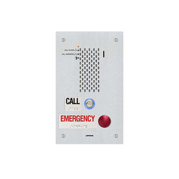 Aiphone IX-SSA-2RA SIP Compatible IP Emergency Station - ADA Compliant with One Call Button and One Emergency Call Button