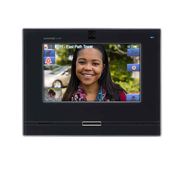 "Aiphone IX-MV7-B SIP Compatible IP Video Master Station - 7"" Touchscreen and Hands-free (Black)"