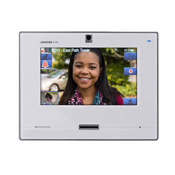 "Aiphone IX-MV7-W SIP Compatible IP Video Master Station - 7"" Touchscreen and Hands-free (White)"