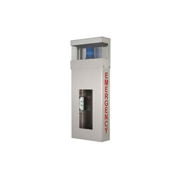 Aiphone WB-HE Wall Box with Hooded Light and EMERGENCY Lettering
