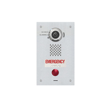 Aiphone IX-DVF-RA SIP Compatible IP Video Emergency Station - ADA Compliant with a Single Emergency Call Button