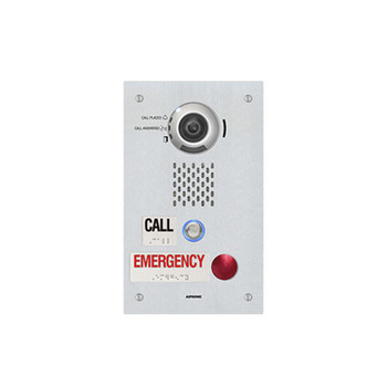 Aiphone IX-DVF-2RA SIP Compatible IP Video Emergency Station - ADA Compliant with One Call Button and One Emergency Call Button