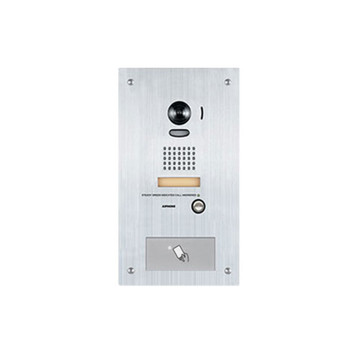 Aiphone IS-IPDVF-HID IP Video Door Station with Built In HID ProxPoint Plus Reader, Flush Mount Stainless Steel