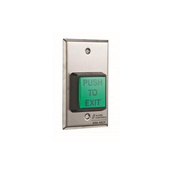 """LTS LTK-TS-2-2 Alarm Controls U.L. 2"""" SQ. Green Illuminated Push Button"""