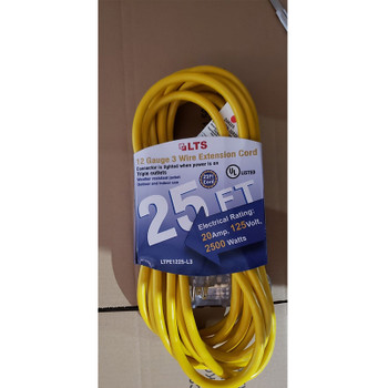LTS LTPE1225-L3 Extension Cord Cable