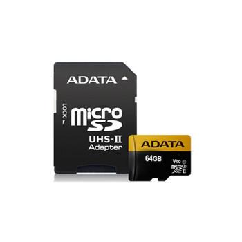 LTS MAUSDX64G ADATA Premier ONE 64GB SDXC UHS-II U3 Class10 V90 microSD Card
