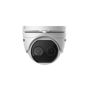 Hikvision DS-2TD1217-2/V1 Thermal-Optical DeepinView Turret IP Security Camera