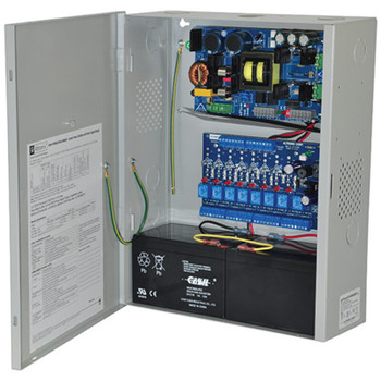 Altronix eFlow102NA8DV Access Power Controller with Power Supply/Charger - 8 PTC Class 2 Relay Outputs