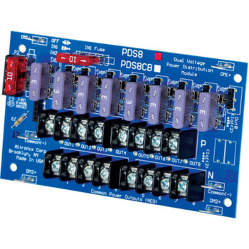 Altronix PDS8 Dual Input Power Distribution Module - 8 Fused Outputs