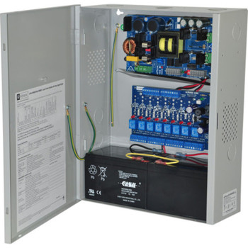Altronix eFlow104NA8D Access Power Controller with Power Supply/Charger - 8 PTC Class 2 Relay Outputs