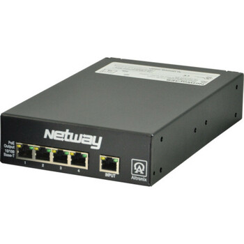 Altronix NetWay4ES Switch - 4 Port PoE/PoE+