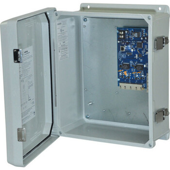 Altronix NetWay4EWPN Single 1G Fiber SFP - 4 port 10/100 PoE/PoE+ configurable for 2x 60W Hi-PoE; Hardened