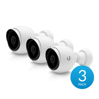 Ubiquiti UVC-G3-BULLET-3 2MP IR Outdoor Bullet IP Security Camera - UniFi Protect G3, 3-pack