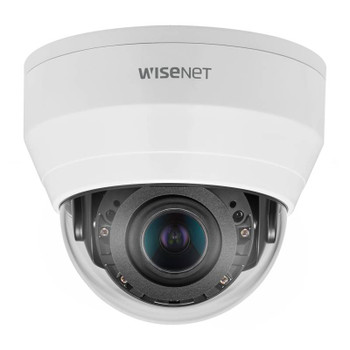 Samsung Hanwha QND-8080R 5MP IR H.265 Indoor Dome IP Security Camera with Motorized Varifocal Lens