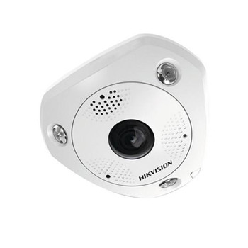 Hikvision DS-2CD63C5G0E-IVS 2MM 12MP H.265+ IR Outdoor Fisheye IP Security Camera with Heater