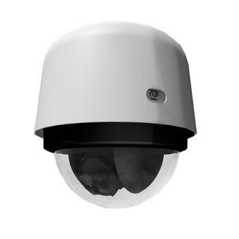 Pelco S7818L-EW1 4K Outdoor PTZ IP Security Camera with 18x Optical Zoom and Clear Bubble