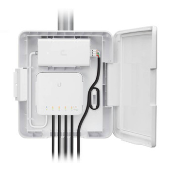 Ubiquiti USW-Flex-Utility Outdoor Weatherproof Enclosure with Cable and PoE Adapter