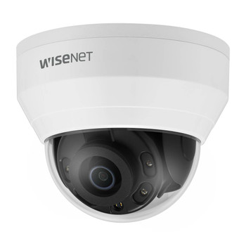 Samsung Hanwha QND-8010R 5MP IR H.265 Indoor Dome IP Security Camera with 2.8mm Fixed Lens